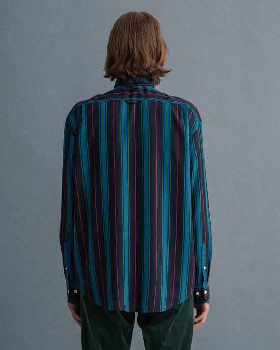 Camisa Relaxed Fit de lyocell a rayas