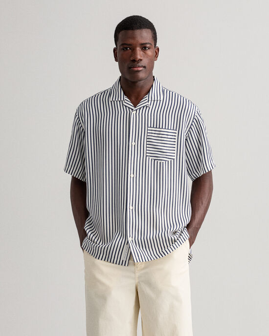 Camisa Relaxed Fit a rayas