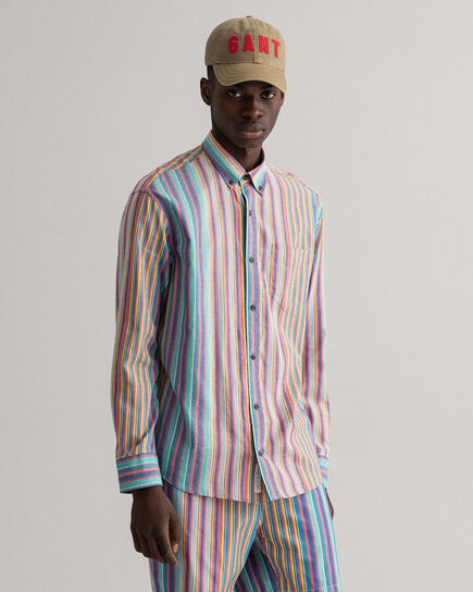 Camisa Oxford Windblown Relaxed Fit a rayas