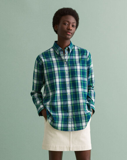 Camisa Oxford Windblown Relaxed Fit a cuadros