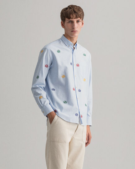 Camisa Oxford Relaxed Fit con bordado Crest